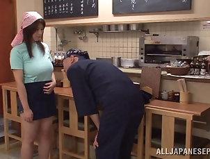 Couple,Hardcore,Reality,Asian,Japanese,Kitchen Rina Araki's wet and wild pussy...