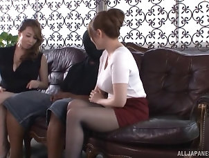 Threesome,FFM,Hardcore,Asian,Japanese Yumi Kazama and a hot babe play with...