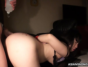 Asian,BDSM,Fetish,Bondage,Torture Pouring hot candle and oil on her ass...