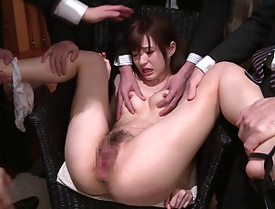 Hardcore,Asian,Japanese,Gangbang Older men fondle and cum on this...