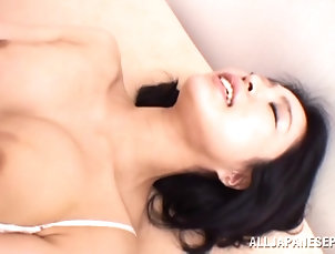 Reality,Couple,Hardcore,Asian,Japanese,Big Tits,Natural Tits,Big Nipples Mei is eaten out and fucked by her...