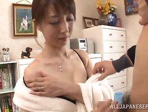 Couple,Hardcore,Asian,Japanese,Homemade,Blowjob,Brunettes,Panties,Bra Sayuri Ikuina the housemaid gives a...