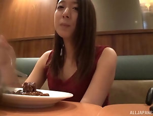 Japanese Smal-titted Asian honey having her...
