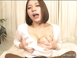 Threesome,Hardcore,MMF,Asian,Japanese,Big Tits,Titjob,Natural Tits Ruri Saijo gets her natural tits...