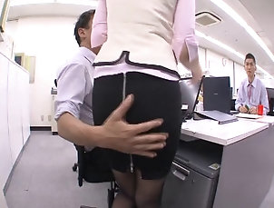 Hardcore,Asian,Japanese,Compilations,Office,Reality Japanese office girl seduces then...