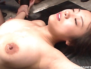 Hardcore,Asian,Japanese,Cumshot,Cum On Tits,Close Up Kinky Japanese dame acquires cum all...