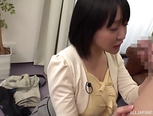 Couple,Japanese horny dude asks his new partner to...