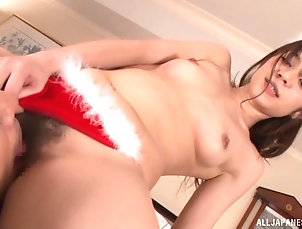 Couple,Hardcore,Asian,Japanese,Stockings,Thong,Natural Tits Shelly always takes a stiff dick into...