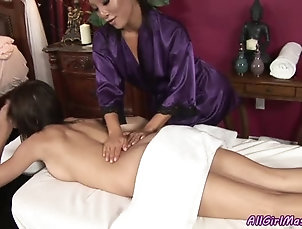 Massage,Reality,Brunettes,Babes,Asian,Piercing Lesbian Beauties Love Licking One...