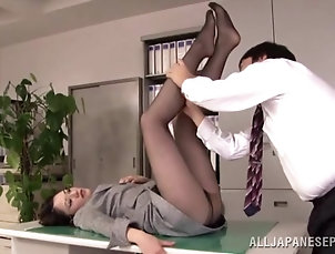 Japanese,Asian,Amateur,MILF,Cougars,Glasses,Couple,Hardcore,Office Asian hottie makes one of her...