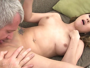 Old vs Young Bliss Dulce gets her Asian pussy...
