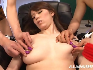 Asian,Japanese,Natural Tits,Hardcore Tasty Brunette Gets Touched With Toys...