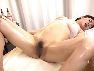 HD,Couple,Hardcore,Asian,Japanese,Panties,Bra,Oiled,Massage Japanese MILF massages and fuck...