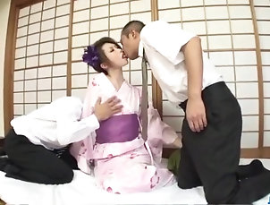 Asian,Japanese,Cumshot,Creampie Kimono girl, Rinka Kanzaki, deals two...