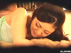 Couple,Oiled,Massage,Natural Tits,Japanese Spy cam catches an oiled hottie...
