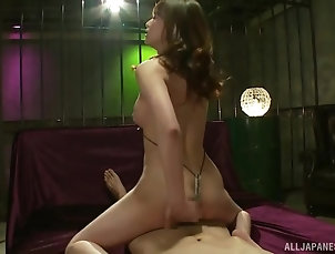 Couple,Japanese,Cowgirl,Natural Tits Wild fucking between stripper...