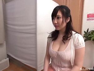 Couple,Japanese Busty brunette hottie finally gets...
