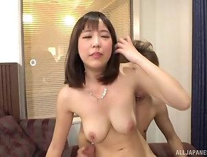 Couple,Japanese,Natural Tits Busty Japanese Takeuchi Nami swallows...