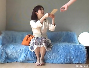 Couple,Japanese,Natural Tits,MILF Mature Japanese chick attacked by a...