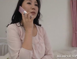 Couple,Hardcore,Asian,Japanese Dildoing the delicious pink tato of a...