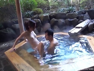 Couple,Hardcore,Asian,Japanese,Pool,Outdoor An Asian couple relaxes in the hot...