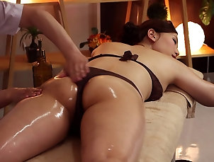 Hardcore,Couple,Massage,Oiled,Asian,Japanese,Natural Tits Erotic oiled up Japanese massage with...