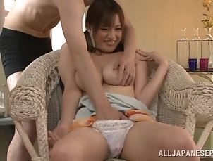Asian,Babes,Big Tits,Couple,Fingering,Hardcore,Japanese,Natural Tits,Panties Busty Asian siren Moe Tsukina loves...
