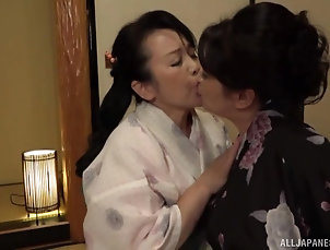 Mature,Mature Lesbian,Japanese Chubby Japanese matures drop their...