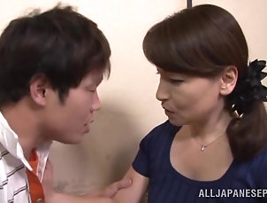 Reality,Asian,Couple,Hardcore,Japanese,MILF,Cougars,Wife Lusty asian vixen Yuuri Saejima sucks...