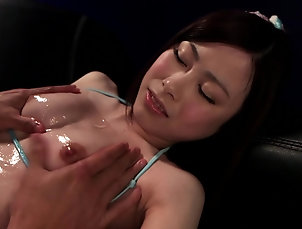 Japanese,Cumshot,Facial Slim Japanese girl covered in cum...