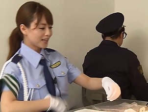 Couple,Hardcore,Asian,Japanese,Reality,Uniform,Compilations Female Asian cop fucks her prisoner...