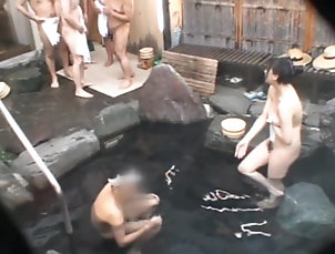 Asian,Japanese,Natural Tits,Masturbation,Outdoor Thermal Water Sex
