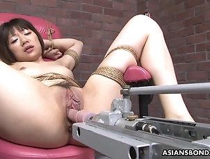Japanese,BDSM,Fetish,Machines,Bondage Tied up Japanese pornstar Shiori...