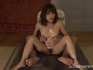 Amateur,Asian,Couple,Fingering,Hardcore,Japanese,Oiled,Small Tits Oily pleasures with a divine Japanese...
