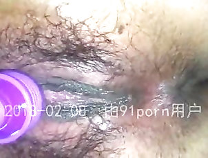 Asian;Close-up;Hairy;Orgasm;Girl Masturbating Chinese Release w Powerful Org...