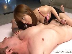 Asian,Babes,Couple,Hardcore,Japanese Yuma Asami enjoys cum on her face...