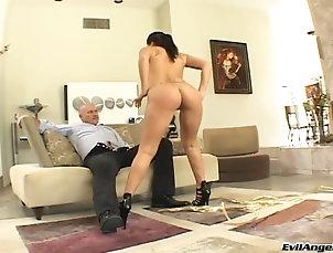 Couple,Hardcore,Rough,Asian,Pornstars,Long Hair,Natural Tits,Tattoo Asian babe London Keyes gets bent...
