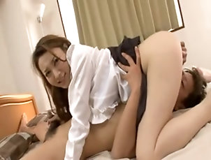 Japanese,Asian,Bra,Big Tits,Couple,Hardcore,Long Hair Busty Japanese chick gets her pussy...