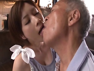 Hardcore,Asian,Japanese,Compilations,Old vs Young Salacious Asian chick with nice big...