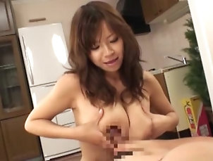 Amateur,Asian,Big Tits,Brunettes,Couple,Hardcore,Japanese,Natural Tits Busty Japanese milf makes her dude...