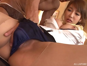 Couple,Hardcore,Asian,Japanese,Close Up,Fingering,Thong Tremendously sexy Japanese masseuse...