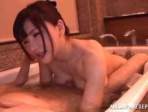 Hardcore,Couple,Asian,Japanese,Bath,Big Tits,Natural Tits Taking a batch with her boyfriend...