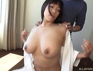 Couple,Hardcore,Asian,Japanese,Big Tits,Natural Tits Nozomi's tits are perfect and...