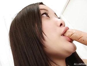 Couple,Hardcore,Asian,Japanese,Pantyhose,Fishnet,Long Hair,Bra Sweet Shirashi is always ready to put...