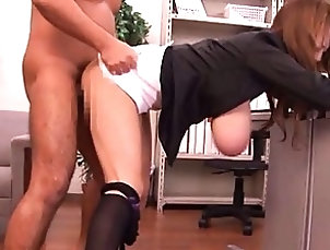 Asian,Big Tits,Hardcore,Japanese,Office Hitomi Tanaka tits hanging out of her...