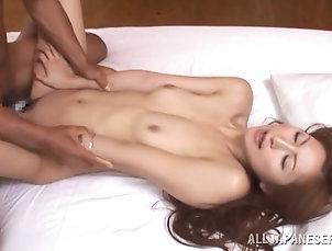 Threesome,MMF,Hardcore,Amateur,Asian,Japanese,Long Hair Reira Aisaki gets her holes fingered...