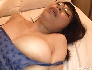 Couple,Hardcore,Asian,Japanese,Pantyhose,Nylon,Glasses Stunning Japanese girl in glasses and...