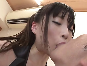 Couple,Hardcore,Asian,Japanese,Natural Tits,Missionary Nozomi Kitano gets fucked all over...