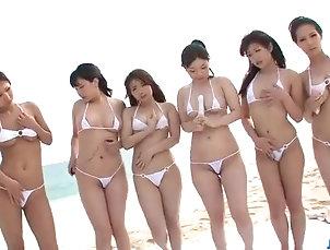 Japanese Sex on the beach along sleazy Hina Maeda
