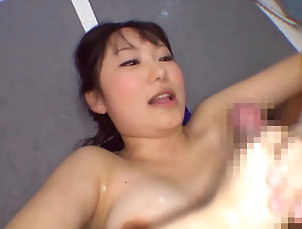 Natural Tits,Doggystyle,Couple,Hardcore,Shower,Brunettes,Asian,Japanese Sayaka Kazuki gets oiled and pounded...